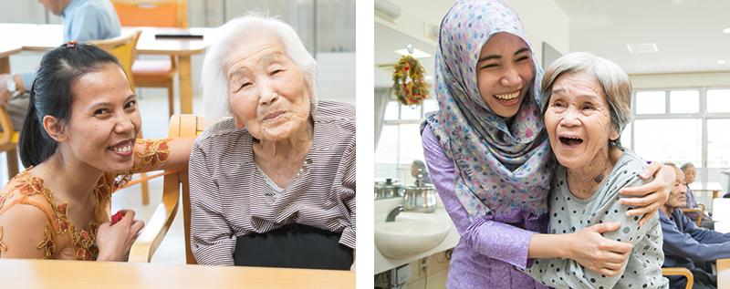 写真:インドネシアEPA介護福祉士候補者